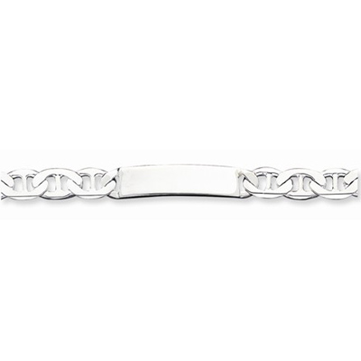 Sterling Silver 8 1/2in Anchor Link ID Bracelet