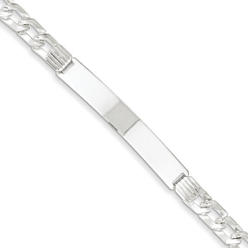 7in Fancy ID Bracelet - Sterling Silver