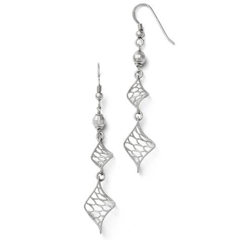 2 1/8in Sterling Silver Twist Dangle Earrings