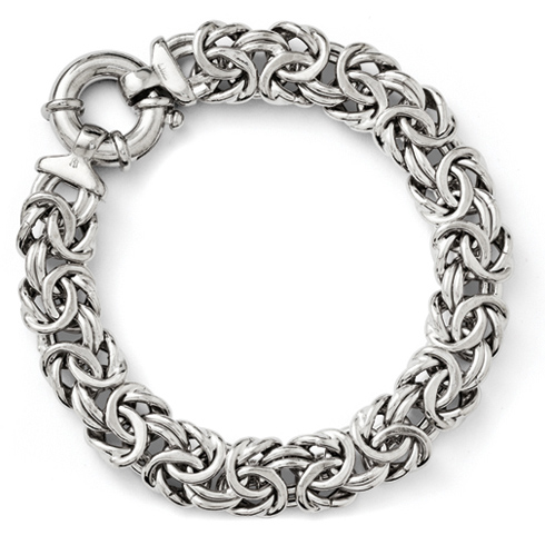 Sterling Silver 7 1/2in Fancy Italian Bracelet