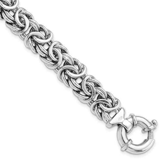 Sterling Silver 7 1/2in Fancy Italian Bracelet