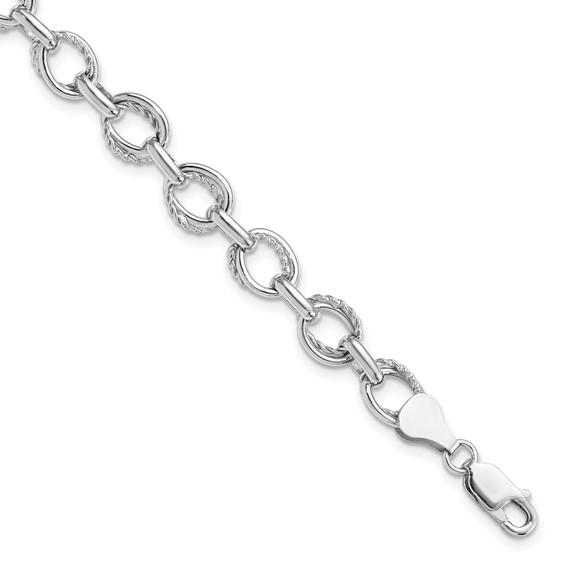 7in Sterling Silver Sophia Link Bracelet