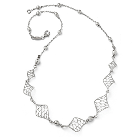 18in Sterling Silver Twist Necklace