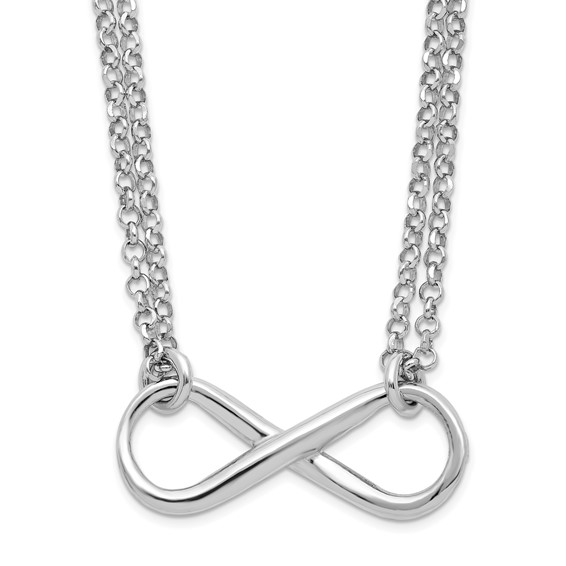 Sterling Silver 18in Infinity Symbol Strand Necklace