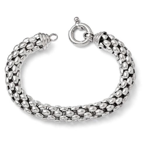 Sterling Silver 8in Italian Mesh Bracelet