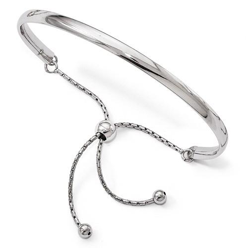 Sterling Silver Italian Adjustable Bangle Bracelet
