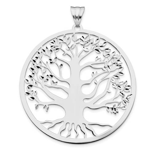 Sterling Silver Tree of Life Pendant 1 3/4in