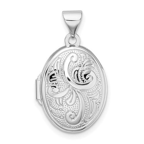 Petite Oval Locket 5/8in - Sterling Silver