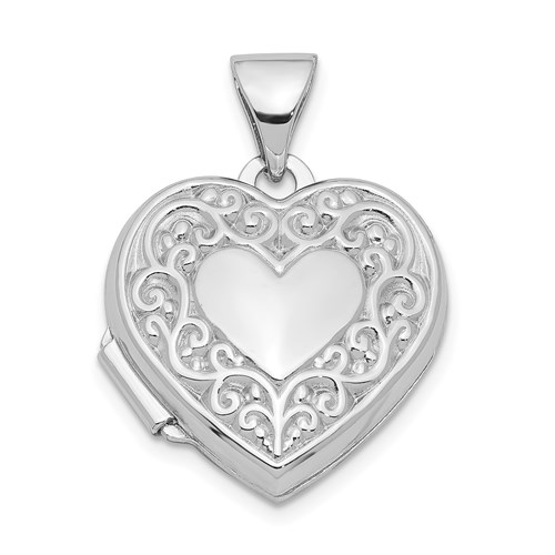 Sterling Silver 1/2in Heart Locket