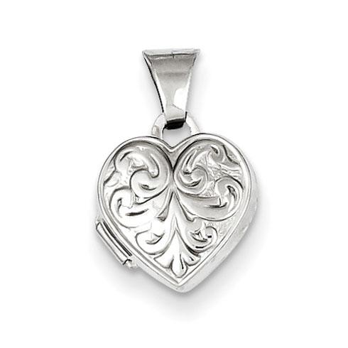 Sterling Silver 5/16in Heart Locket