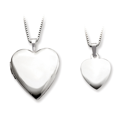 Sterling Silver Smooth Locket Set