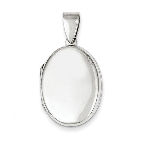15/16in Sterling Silver Oval Locket