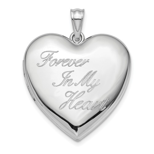 Sterling Silver Forever In My Heart Ash Holder 1in