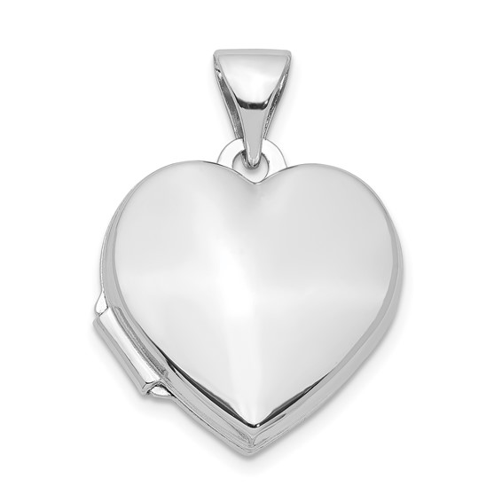 Smooth Heart Locket 1/2in - Sterling Silver