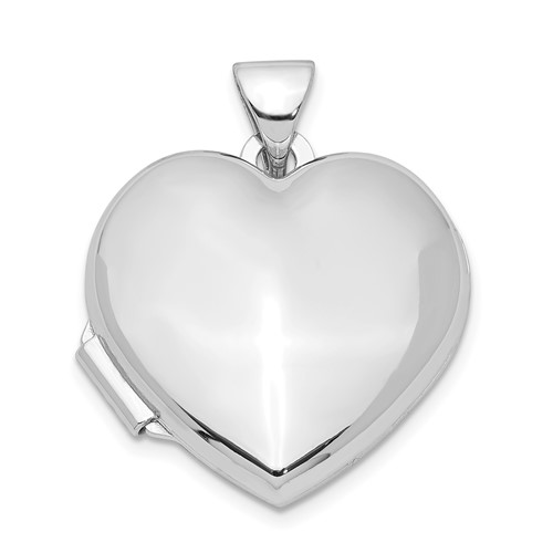 Smooth Heart Locket 3/4in - Sterling Silver