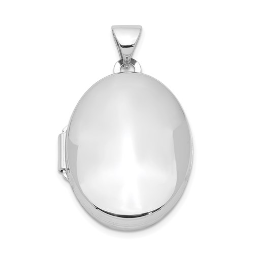 Sterling Silver 7/8in 2-Frame Oval Locket