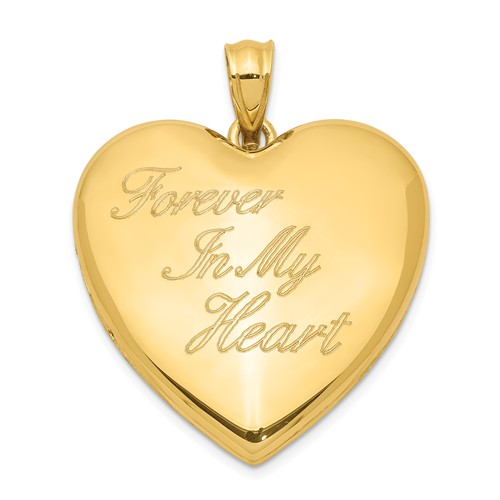 Gold-plated Sterling Silver Forever In My Heart Ash Holder 1in