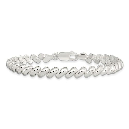 Sterling Silver 7.5in San Marco Bracelet