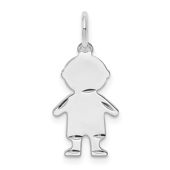 Sterling Silver 5/8in Engravable Boy Charm