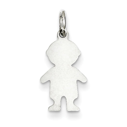 Sterling Silver Engravable Boy Disc Charm