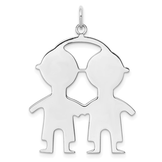 Sterling Silver Engravable Boy-Boy Disc Charm