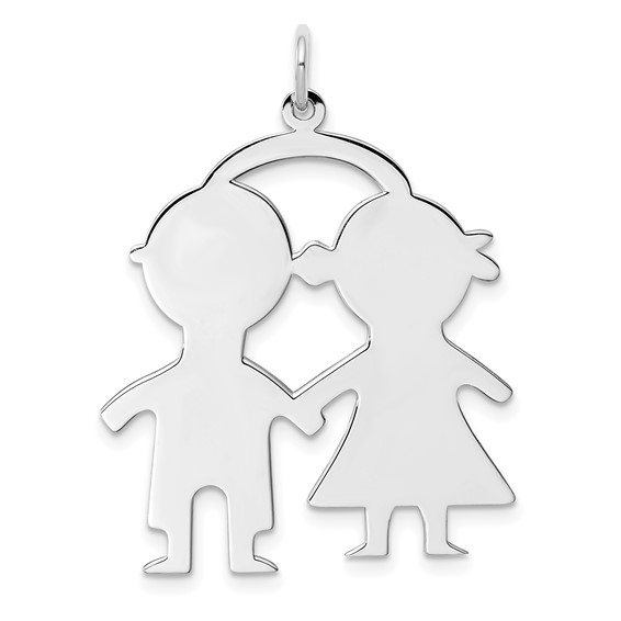 Sterling Silver Engravable Boy-Girl Disc Charm