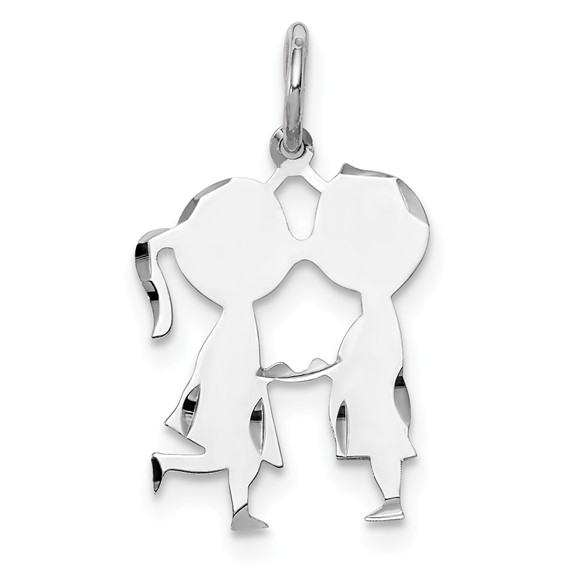 Sterling Silver Engravable Boy Girl Disc Charm