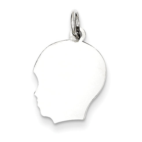 Sterling Silver 1/2in Engravable Boy Charm