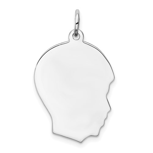 Sterling Silver 3/4in Engravable Boy Charm