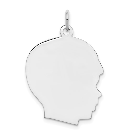 Sterling Silver 7/8in Engravable Boy Disc Charm