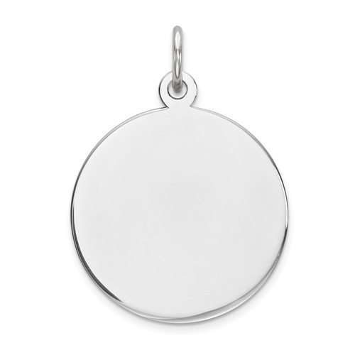 Sterling Silver 5/8in Engravable Round Disc Charm