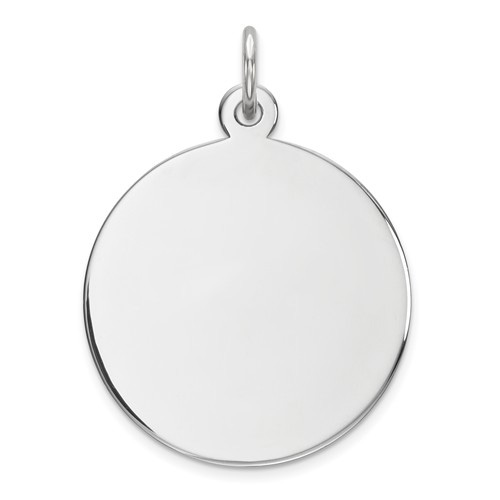Sterling Silver 11/16in Engravable Round Disc Charm