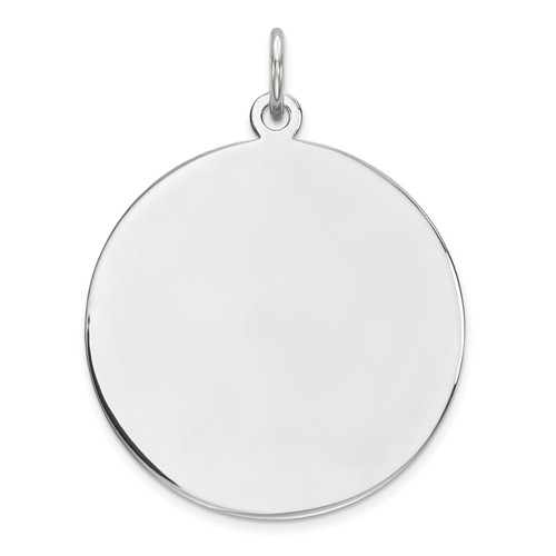 Sterling Silver 7/8in Engravable Disc Charm