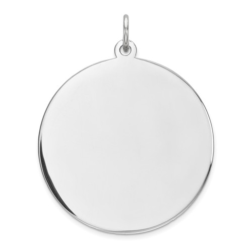 Sterling Silver 15/16in Engravable Round Charm