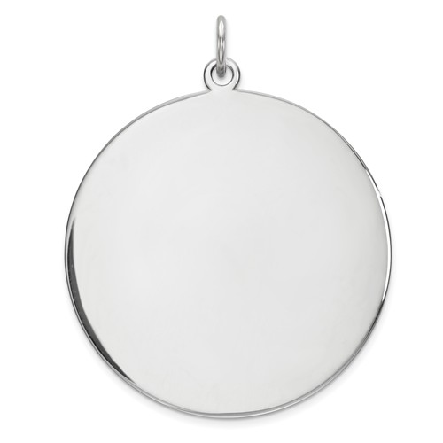 Sterling Silver 1 1/8in Engravable Round Disc Charm