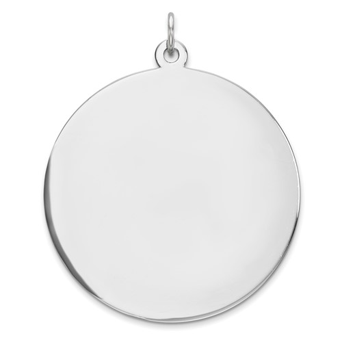 Sterling Silver 1 1/4in Engravable Disc Pendant