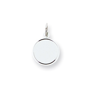 Sterling Silver 7/16in Engravable Round Disc Charm