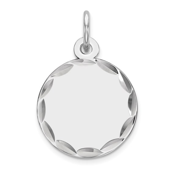Sterling Silver 7/16in Engravable Round Initial Charm