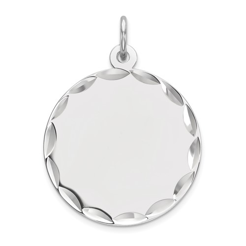 Sterling Silver 11/16in Engravable Disc Charm