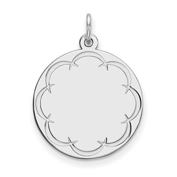 Sterling Silver Engravable Round Disc Charm