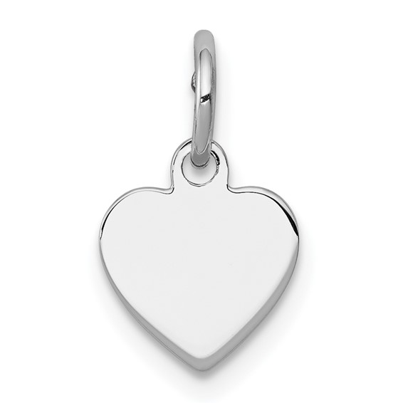 Sterling Silver 1/4in Initial Heart Charm