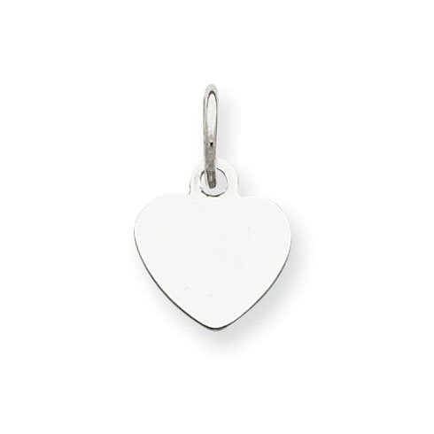 1/4in Sterling Silver Initial Heart Charm