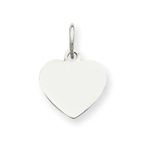 Sterling Silver 5/16in Initial Heart Charm