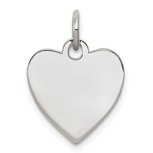 Sterling Silver 1/2in Engravable Heart Charm