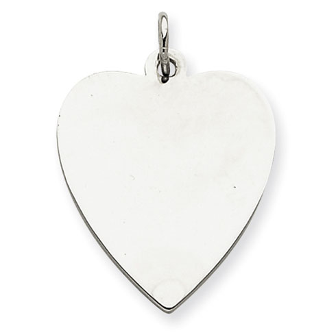 Sterling Silver 7/8in Engravable Heart Charm
