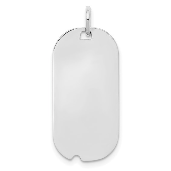 Sterling Silver 1in Engravable Dog Tag