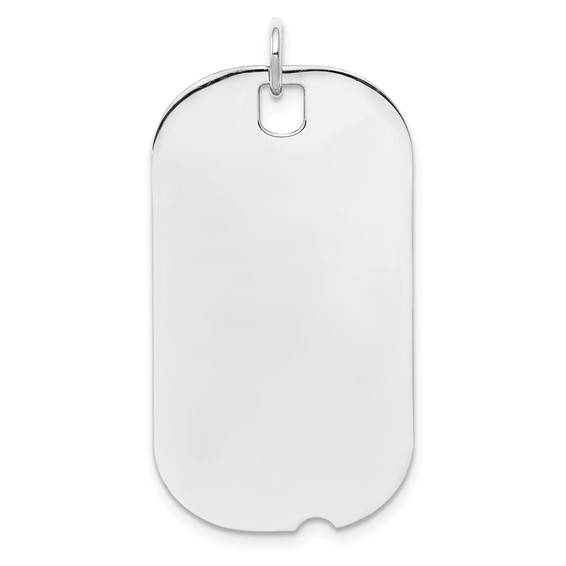 Sterling Silver 1 1/4in Engravable Dog Tag