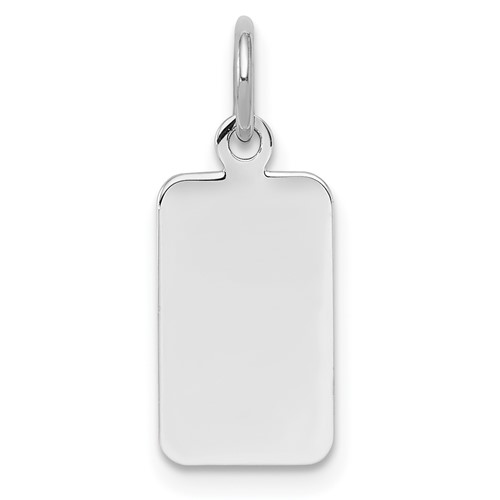 Sterling Silver 1/2in Engravable Rectangle Disc Charm