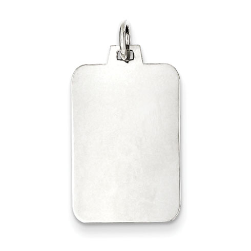 Sterling Silver 3/4in Engravable Rectangle Charm