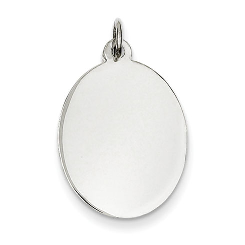 Sterling Silver 3/4in Engravable Oval Charm